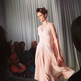 Coco Rocha was an ethereal beauty at Zac Posen.