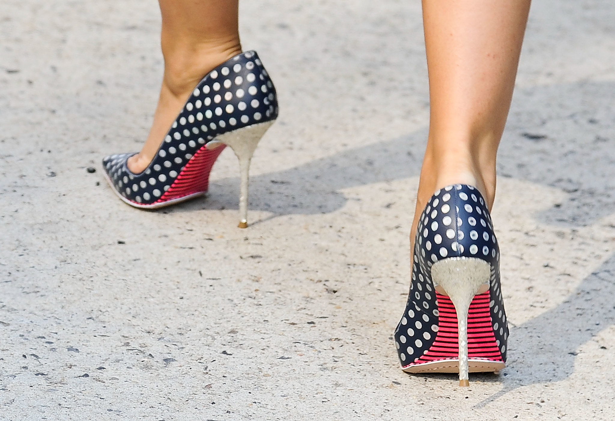 This heel packed a punch with stripes and polka dots.