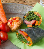 Vegan Cheese and Veggie Wraps