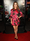 Rose Byrne exuded a dark glamour in her floral Lanvin minidress at the Insidious: Chapter 2 premiere in LA.