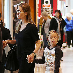 Angelina Jolie at Sydney Airport With Pax and Shiloh