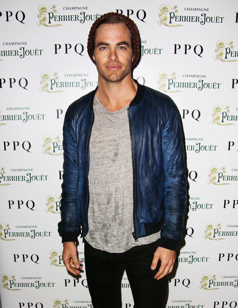 Chris Pine hit the red carpet at the PPQ London Fashion Week party.