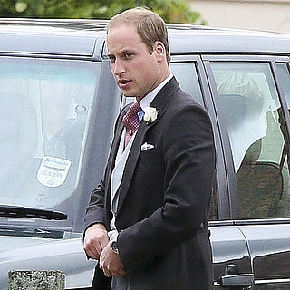 Prince William and Prince Harry at a Wedding in Gayton