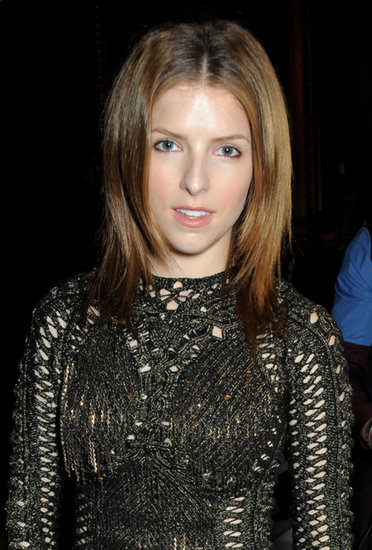 Anna Kendrick at the Julien Macdonald show.