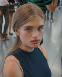 Backstage beauty at Whistles Spring 2014.