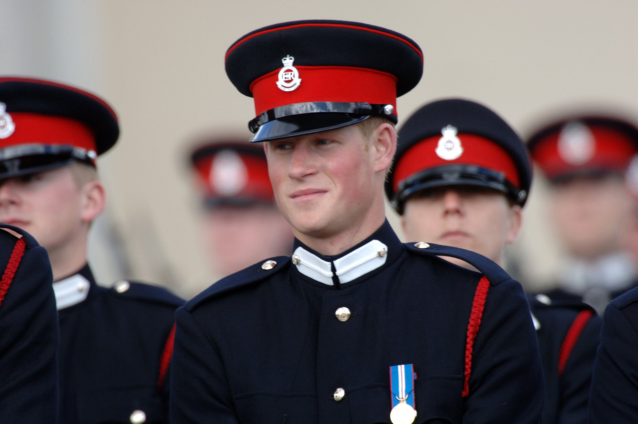 Prince Harry donned a uniform to become a second lieutenant in 2006.