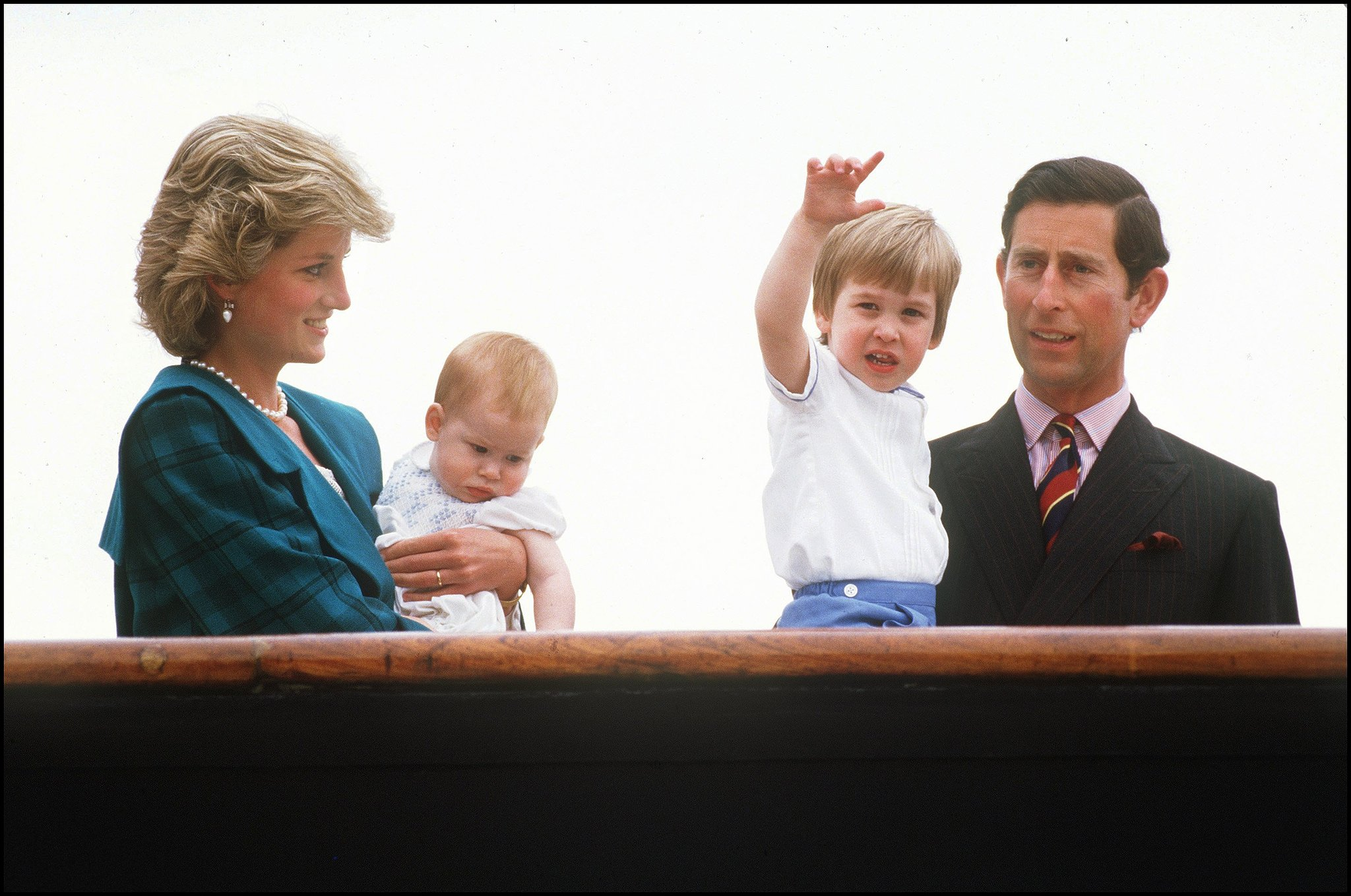 Prince Harry, Princess Diana, Prince Charles, and Prince William visited Venice in May 1985.