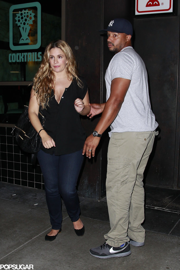 CaCee Cobb and Donald Faison joined Jessica Simpson at the birthday party.