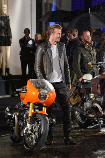 David Beckham at the launch of Belstaff House Photo courtesy of Belstaff