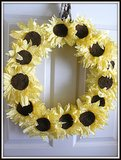 Fall Sunflower Wreath