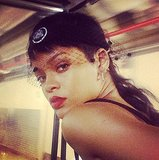 Who else but Rihanna could pull off a netted sweatband? Source: Instagram user badgalriri