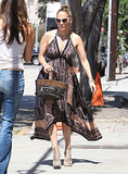 Jennifer Lopez dressed up in a maxi dress for a shopping trip in LA.