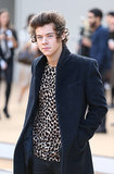 Harry Styles went for a leopard top.