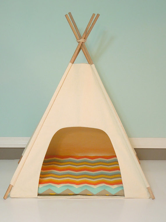 It's possible that everyone in your house will be fighting for this super cute cat teepee ($95).