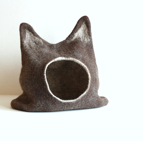 This cat bed ($89) is like a fantastic mash-up of Where the Wild Things Are and Batman. We love the ears!