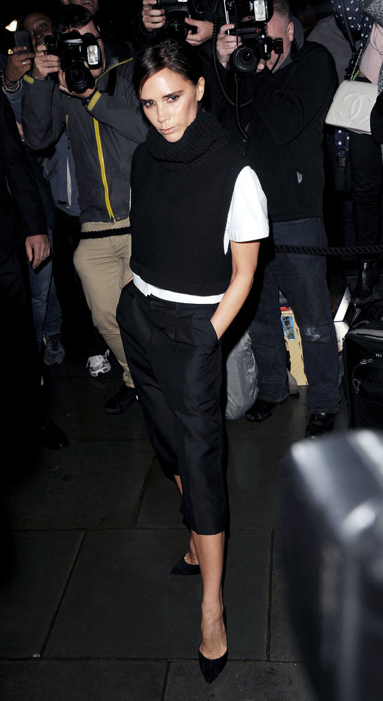 Victoria Beckham stepped out for the British Vogue dinner at London Fashion Week.
