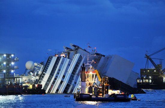 On Sept. 16, work to salvage the Costa Concordia ship started.
