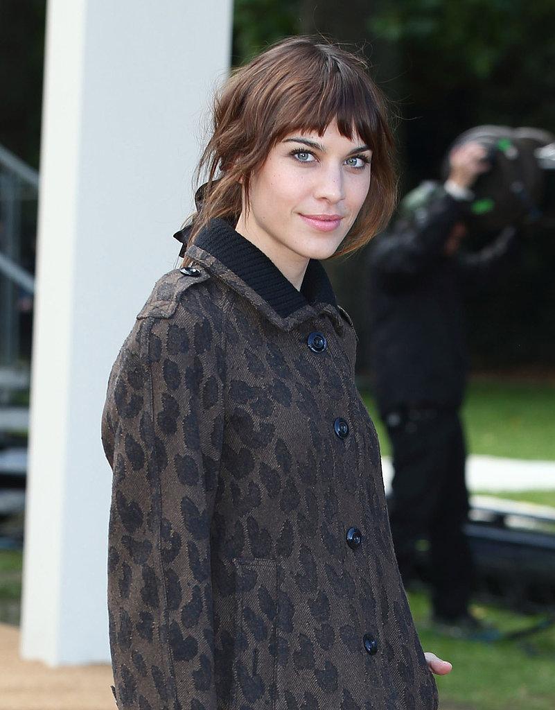 Alexa Chung at Burberry Prorsum Spring 2014.