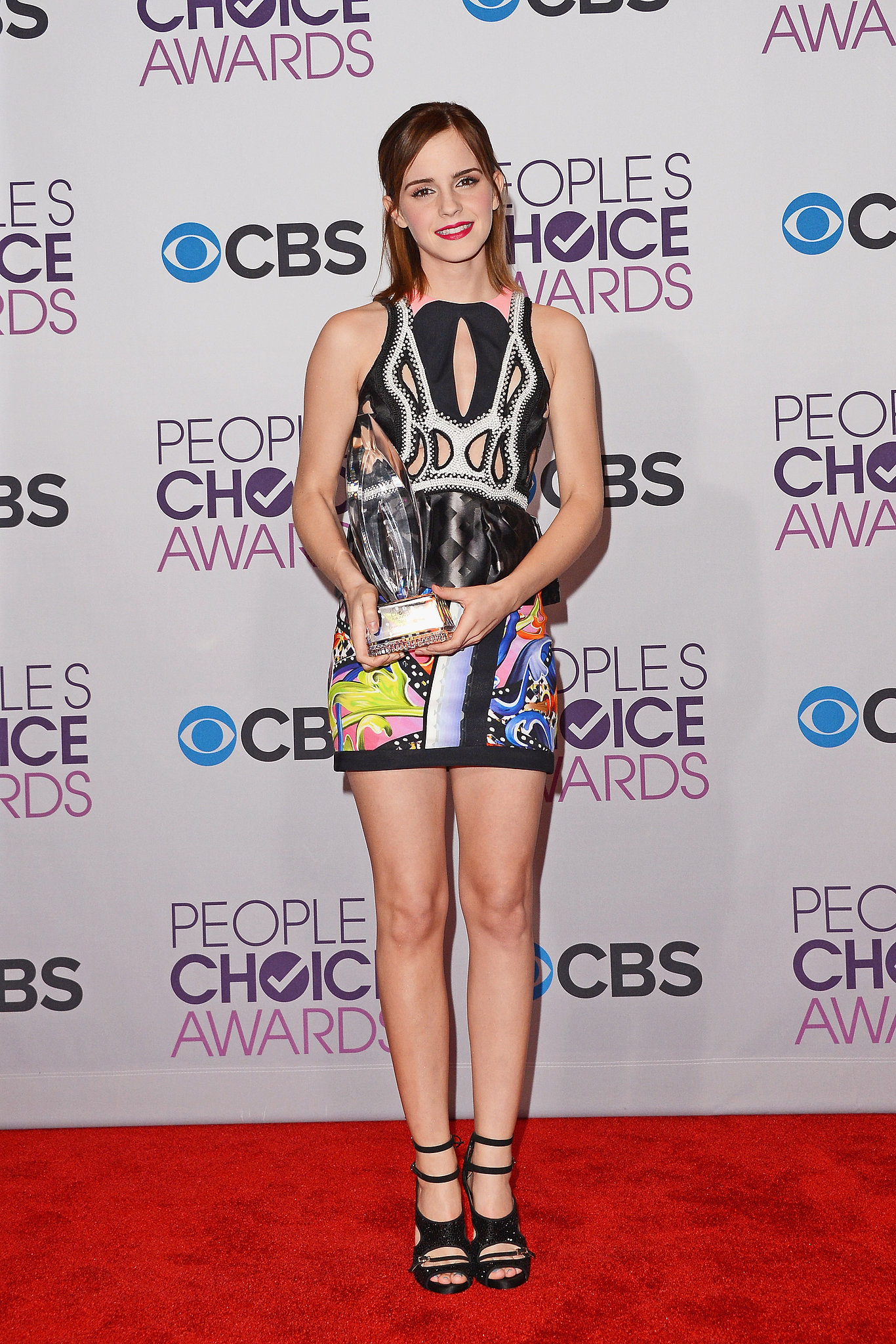 Emma watson was all legs in this sexy peter pilotto cut for People s choice 65