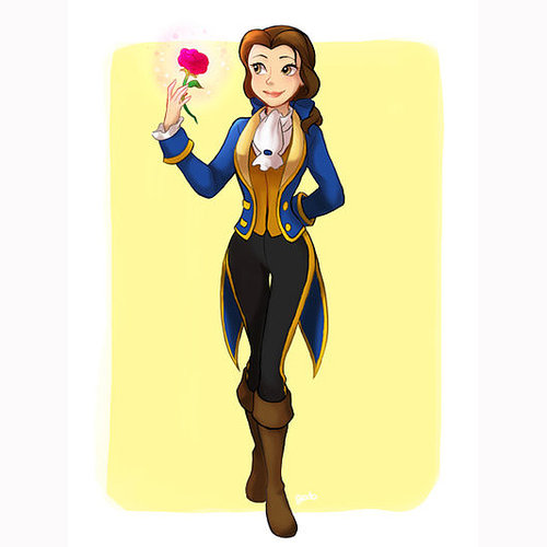 Disney Princesses Dressed as Princes