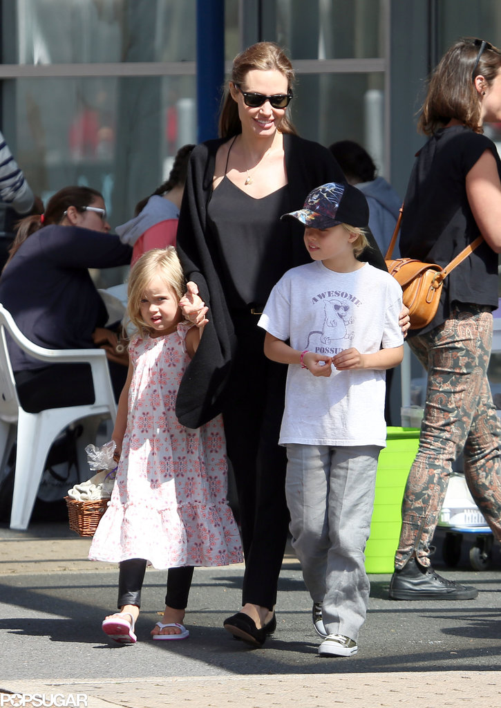 Angelina Jolie took her kids out for a fun day in Sydney, Australia.