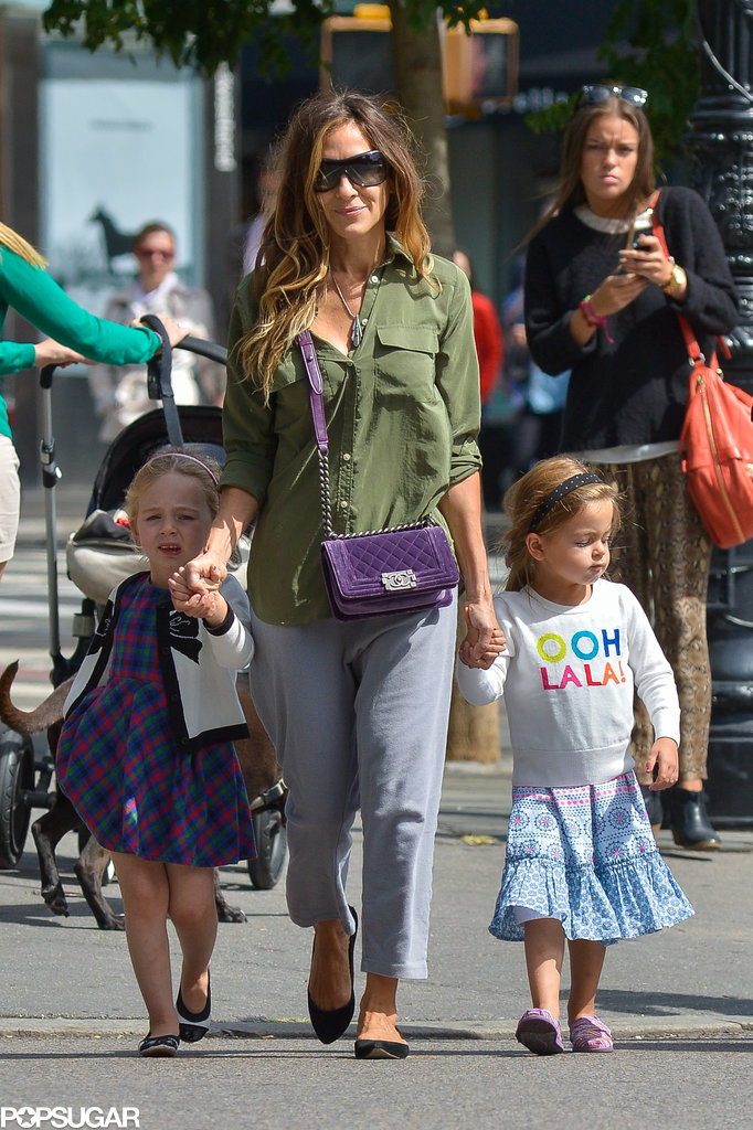 Sarah Jessica Parker spent Sunday shopping with her twins in NYC.