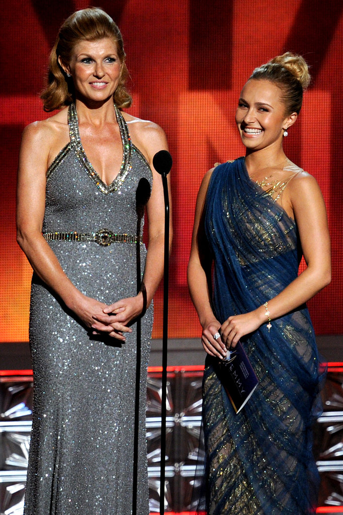 Nashville stars Connie Britton and Hayden Panettiere took the stage to present together in 2012.