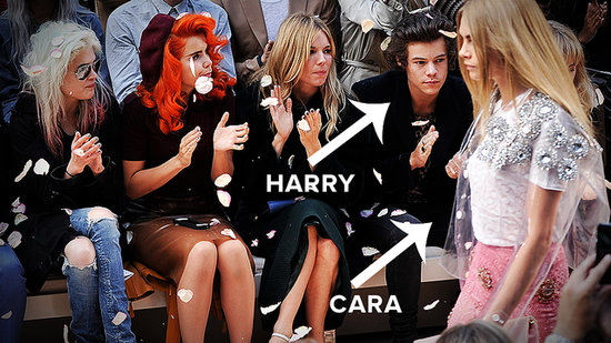 Harry Styles Is Front Row at Fashion Week Watching Cara Delevingne
