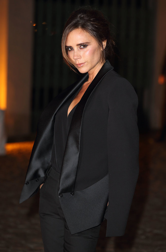 Victoria Beckham went black on black for the event at London's Apsley House.