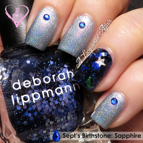 Sapphire-themed Manicure