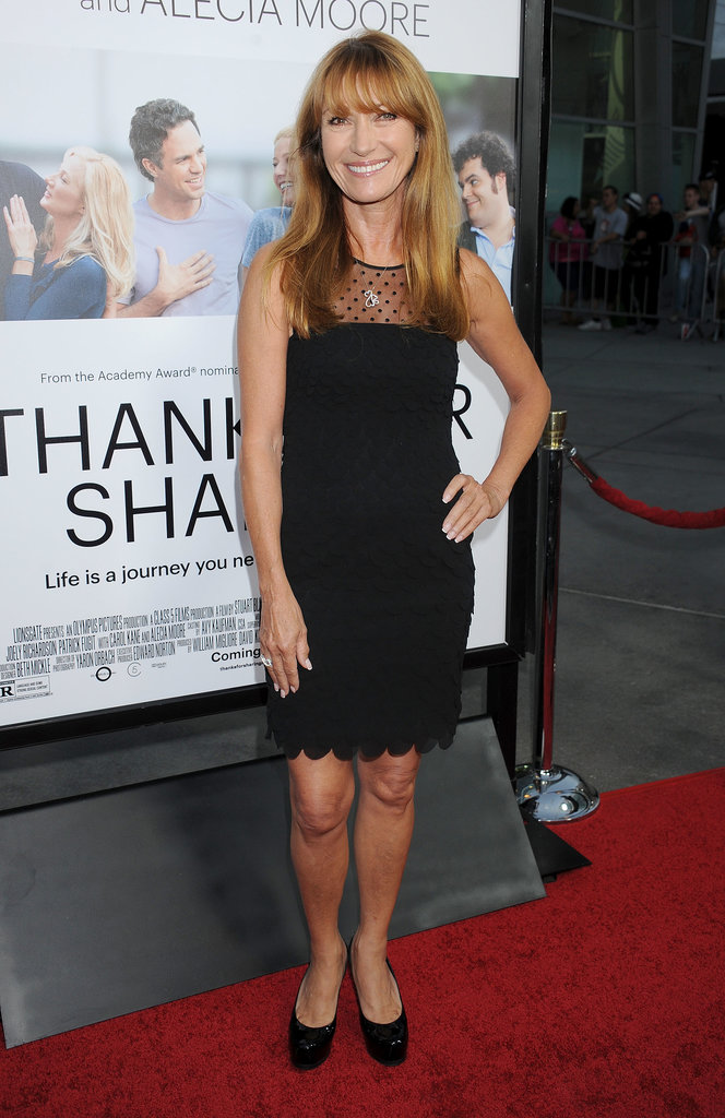 Jane Seymour wore a black number.