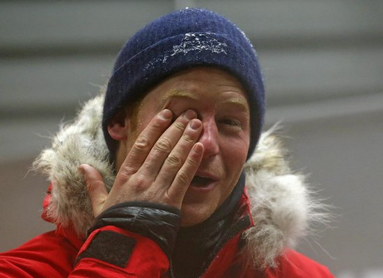 Prince Harry spent the night in a freezer to prepare for his trek to the South Pole.