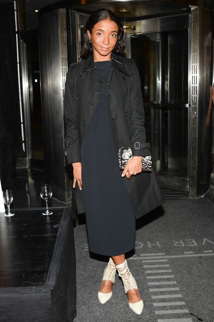 Genevieve Jones honored Kenny Scharf at New York's Lever House in attention-grabbing heels.