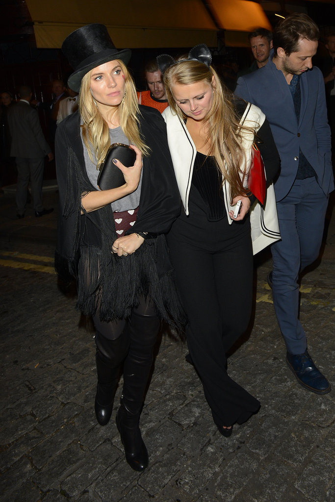 Sienna Miller wore a top hat.