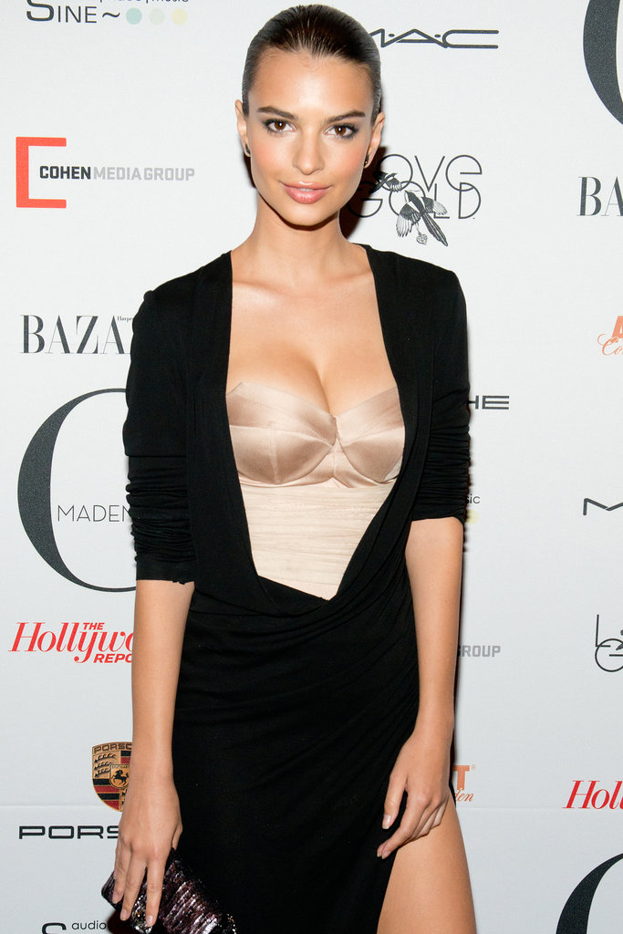 """""""Blurred Lines"""" model Emily Ratajkowski joined Gone Girl as Nick's young girlfriend. See who else has been cast in Gone Girl."""