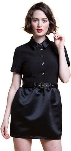 Ida Sjostedt Short Sleeve Satin Shirt Dress