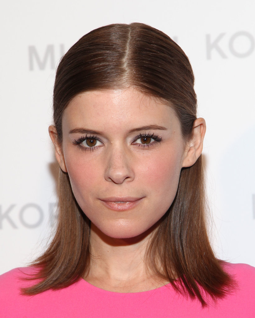 Kate Mara opted to style her straight hair in a chic half-updo while attending New York Fashion Week.
