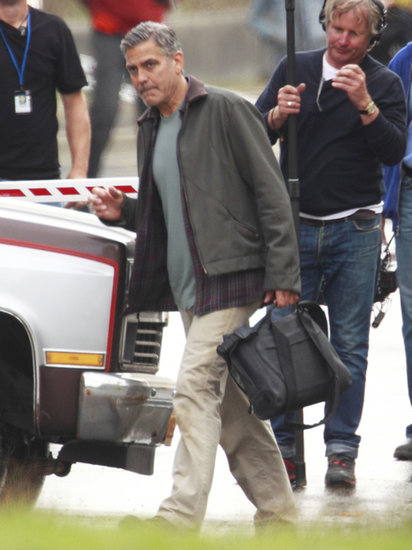 George Clooney worked on his new film, Tomorrowland.