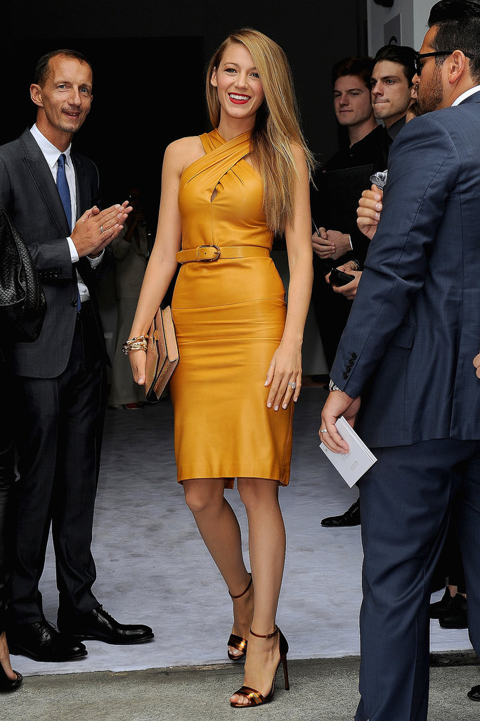 Blake Lively attended Gucci's Spring '14 show in Milan on Wednesday.