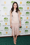 Emmy Rossum hosted Origins' Charity: Water event in a pretty pastel J. Mendel design.