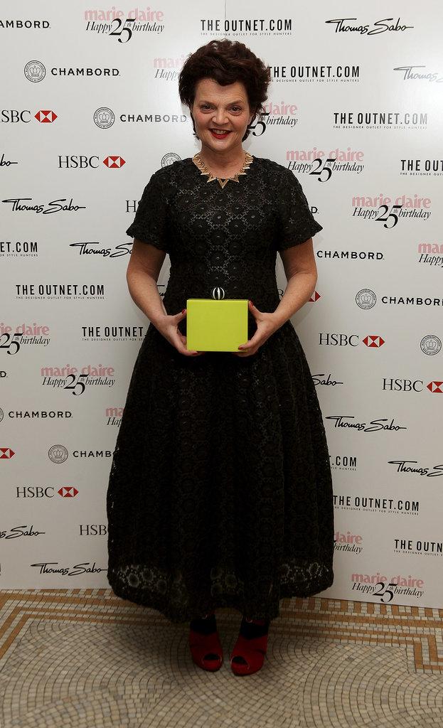 Lulu Guinness gave her clutch the spotlight at Marie Claire's birthday bash.