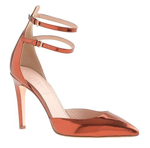 Need a shoe that goes from office to cocktails without skipping a beat? With this strappy mirror metallic pump ($278) you've met your match.