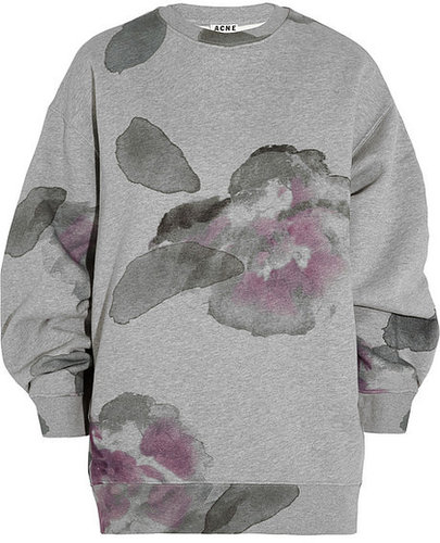 Acne Beta oversized cotton-blend fleece sweatshirt