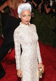 Nicole Richie debuted a high-fashion look for the punk-themed Met Gala in NYC in May 2013.