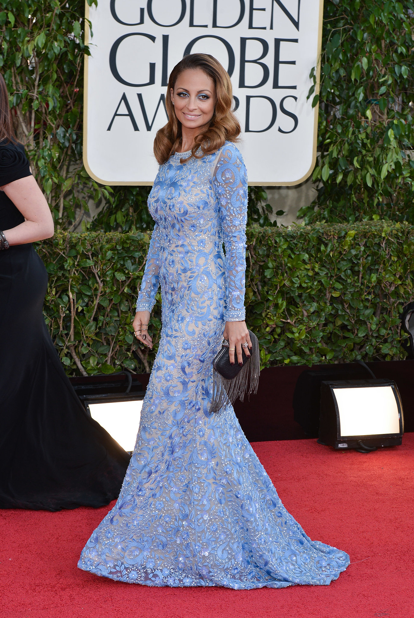 Nicole was a vision in blue when she walked the red carpet at the Golden Globes in LA in January 2013.