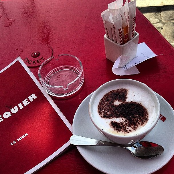 After a detox (we assume of the coffee kind) Giancarlo Giammetti indulged in a decadent caffeinated drink. Source: Instagram user privategg
