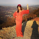 Kourtney Kardashian struck a glamorous pose on top of a mountain. Source: Instagram user kourtneykardash