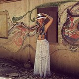 Beyoncé looked fierce while posing near some street art in Rio de Janeiro. Source: Instagram user beyonce