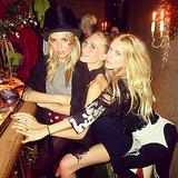 British babes Sienna Miller, Poppy Delevingne, and Mary Charteris had a night out on the town for the AnOther Magazine dinner in London. Source: Instagram user derekblasberg