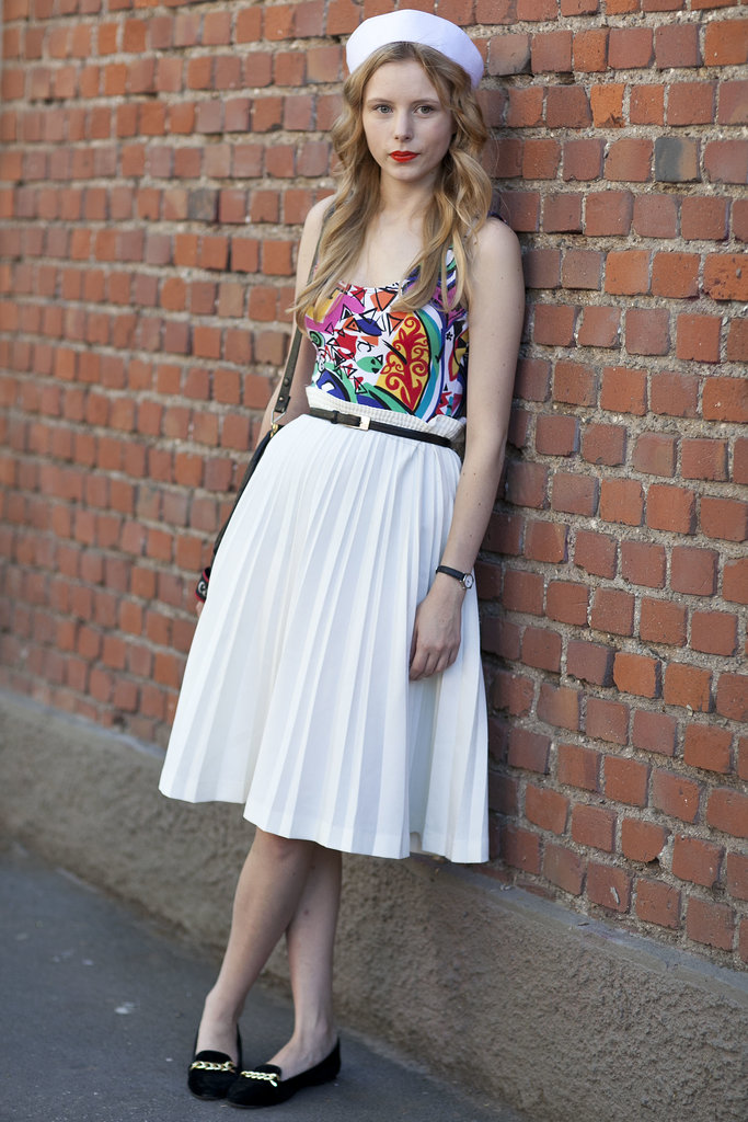 Sweet, with a sassy rainbow-bright top.